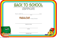 Welcome Back to School Certificate Template FREE Printable 1