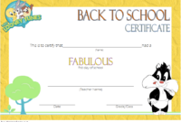 Welcome Back to School Certificate Template FREE Printable 2