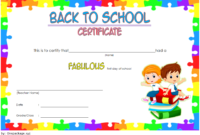 Welcome Back to School Certificate Template FREE Printable 3