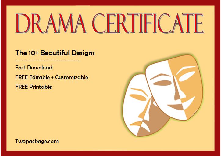 Top 10+ Drama Certificate Template Free Printables