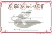 1st Place Chili Cook Off Certificate FREE Printable 2