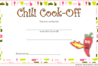 1st Place Chili Cook Off Certificate FREE Printable 3