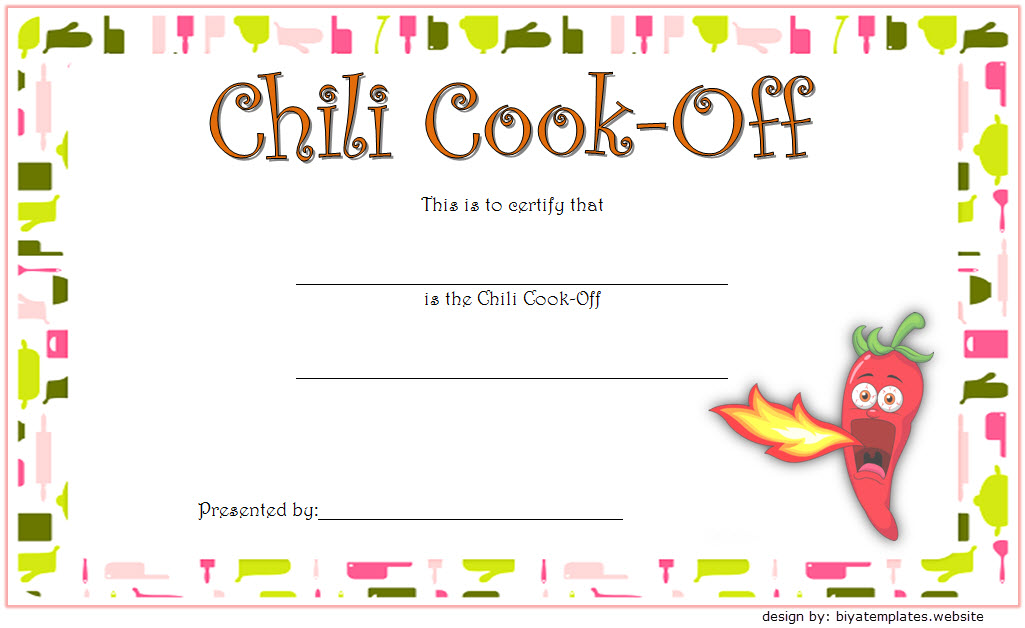 chili cook off certificate template free, chili cook off award certificate template, 1st place chili cook off certificate, free chili cook off winner certificate template, chili cook off participation certificate template, free printable chili cook off award certificate template