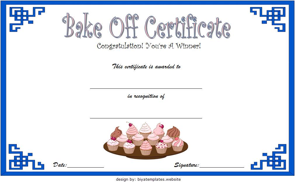 bake off certificate template, great british bake off certificate, bake off winner certificate, bake off champion certificate, bake off award certificate