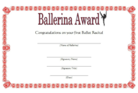Ballerina Award Certificate Template Free Printable 4