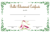 Ballet Certificate of Achievement Template Free 1