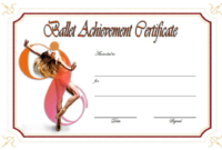 Ballet Certificate of Achievement Template Free 3