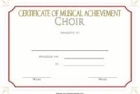 Certificate of Musical Achievement for Choir FREE 1
