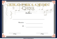 Certificate of Musical Achievement for Choir FREE 2