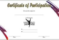 Certificate of Participation Template Free Printable (Hip Hop Dance)