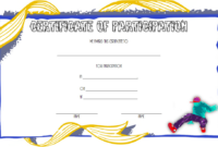 Certificate of Participation Template Free Printable (Street Dance)