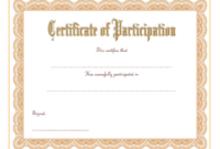 Certificate of Participation Template Word FREE Download 1
