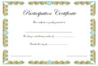 Certificate of Participation Template Word FREE Download 3