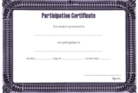 Certificate of Participation Template Word FREE Download 5
