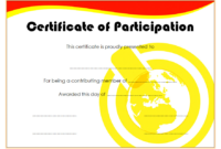 Certificate of Participation in Workshop Template FREE 1