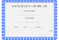 Certificate of Participation in Workshop Template FREE 2