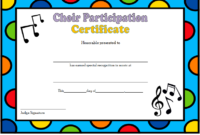 Choir Certificate of Participation Template FREE 2
