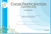 Choir Certificate of Participation Template FREE 3