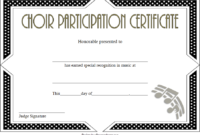 Choir Certificate of Participation Template FREE 4