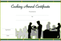 Cooking Class Certificate Template Free 2