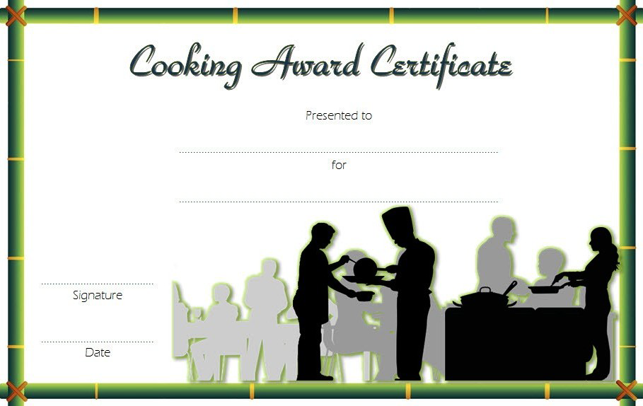 cooking class certificate template, cooking contest certificate template, cooking certificate templates free download, cooking competition certificate, certificate for cooking contest