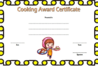 Cooking Class Certificate Template Free 3