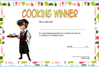 Cooking Competition Certificate Template for the Winner 1