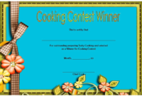 Cooking Competition Certificate Template for the Winner 2