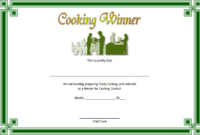 Cooking Contest Certificate Template Free Download 1