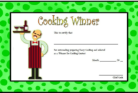 Cooking Contest Certificate Template Free Download 2