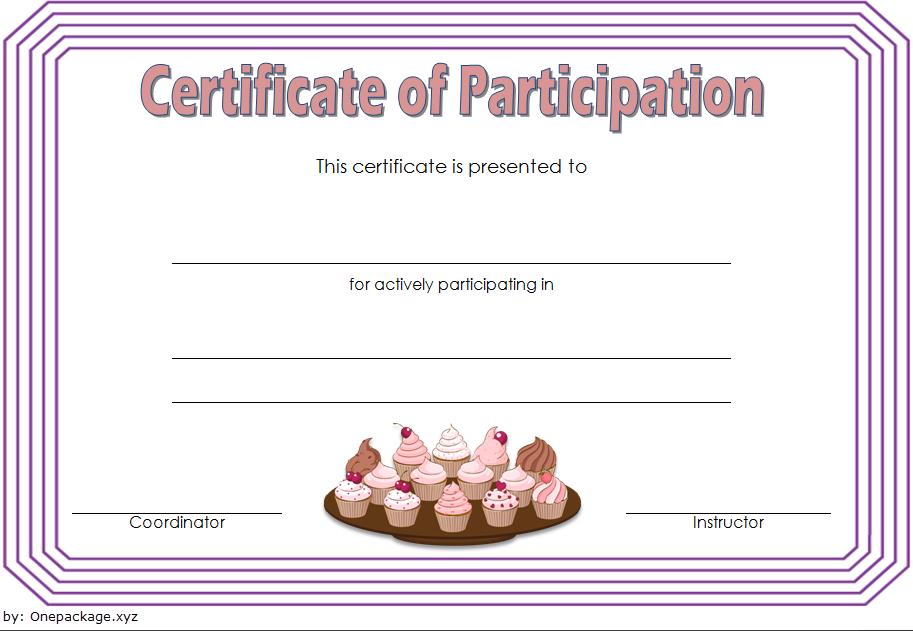 free cupcake gift certificate template, cupcake wars certificate, cupcake wars winner certificate, cupcake wars certificate of participation