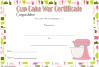 Cupcake Wars Winner Certificate Template FREE Printable 1