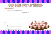 Cupcake Wars Winner Certificate Template FREE Printable 2