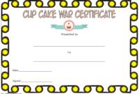 Cupcake Wars Winner Certificate Template FREE Printable 3