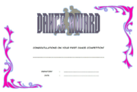 Dance Competition Certificate Free Printable