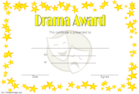 Drama Certificate Template Free Printable 2