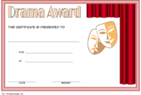 Drama Certificate Template Free Printable 3