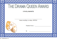 Drama Queen Award Certificate Template FREE Printable 1