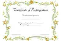 FREE Childrens Certificate of Participation Template 1