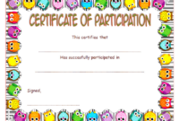 FREE Childrens Certificate of Participation Template 2