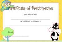 FREE Childrens Certificate of Participation Template 3