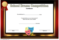 FREE Drama Competition Certificate Template 1