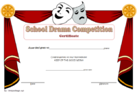 FREE Drama Competition Certificate Template 2