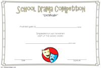 FREE Drama Competition Certificate Template 3
