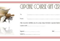 Free Cupcake Gift Certificate Template Printable 2