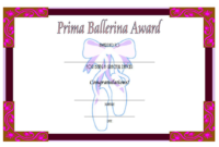 Free Printable Ballet Certificate Template (Version 3)