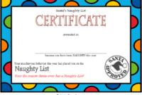Free Santa Naughty List Certificate Template 2