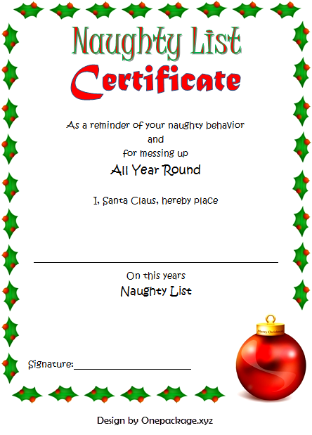 santa naughty list certificate template, naughty list certificate template free download, department of naughty list certificate, santa naughty list warning call, naughty list certificate free printable, free printable santa naughty list certificate