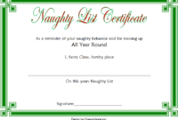 Naughty List Certificate Template Free Printable 3