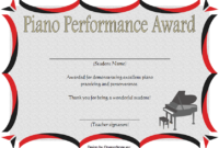 Piano Certificate Template Free Download 2